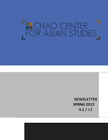 newsletter fall 2012 v.1 / i.2 - Chao Center for Asian Studies - Rice ...