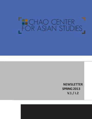 newsletter fall 2012 v.1 / i.2 - Chao Center for Asian Studies - Rice ...