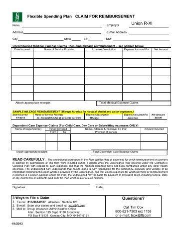 Voucher Claim Form - Business Services