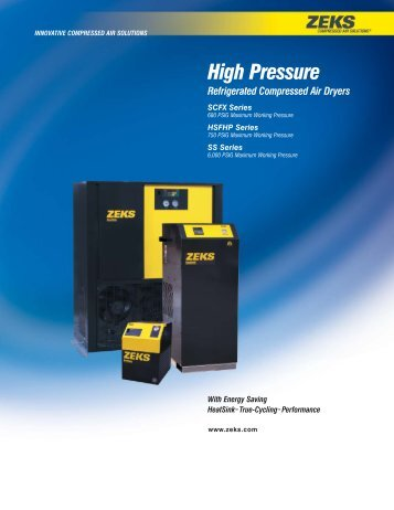 High Pressure Cycling Dryer - ZEKS Compressed Air Solutions