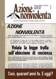 Novembre 2012 - Movimento Nonviolento