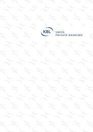Anlagestrategien - KBL - Swiss Private Banking
