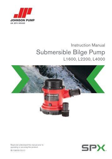 johnson pump instruction manual