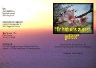 Programm - Reformierte Siebenten-Tags-Adventisten in Österreich
