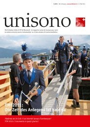Die Zeit des Anlegens ist bald da - Schweizer Blasmusikverband