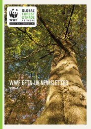 WWF GFTN-UK Spring Newsletter 2012 - WWF UK