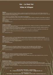 Le Haut Var / Verdon >Pour en savoir plus, cliquez ici (Lien PDF)