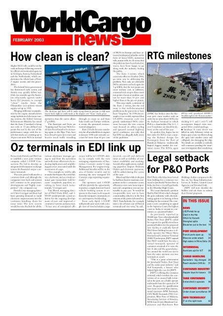 Front Cover Feb - WorldCargo News Online