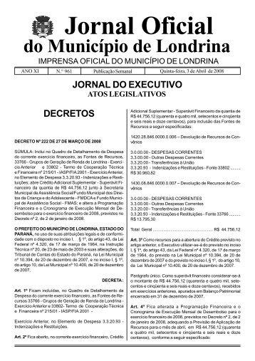 Jornal Oficial - Governo do Paraná