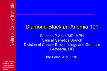 DBA 101(.pdf) - Diamond Blackfan Anemia Foundation, Inc.