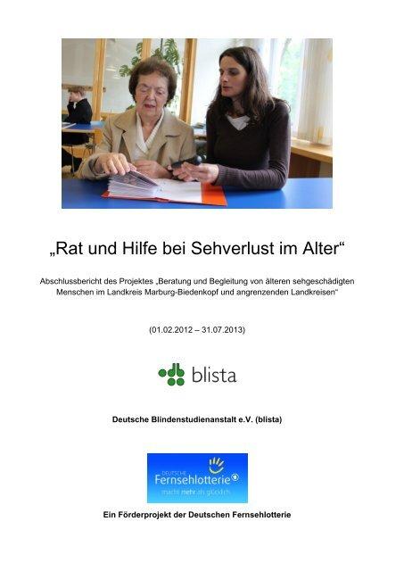 Beratung und Begleitung von Senioren mit Sehverlust - Deutsche ...