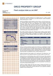 ORCO PROPERTY GROUP Flash analýza tržeb za rok 2007 - Cyrrus