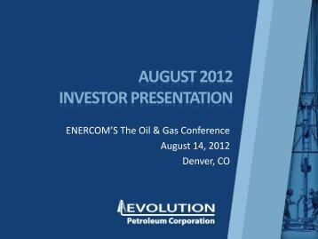 Total Value Per Share - Evolution Petroleum Corporation