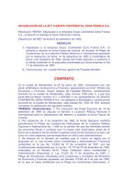 06/09/1993 - Autorización Grupo Continental Zona Franca S.A.
