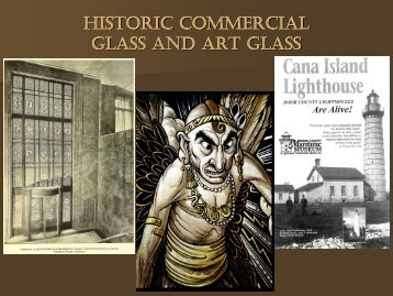 Historic Commercial Art Glass Windows Presentation by Neal Vogel