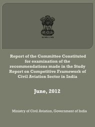 Study Report on Competitive Framework of Civil Aviation Sector in ...
