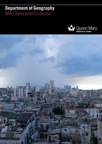 MA Cities and Cultures brochure - School of Geography - Queen ...
