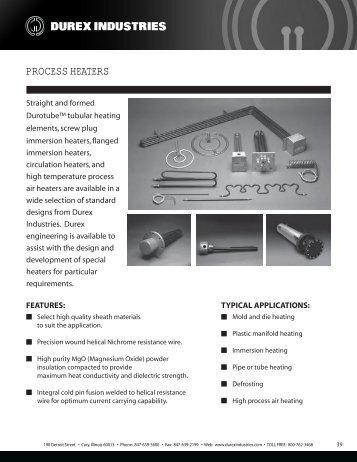 PROCESS HEATERS - Durex Industries