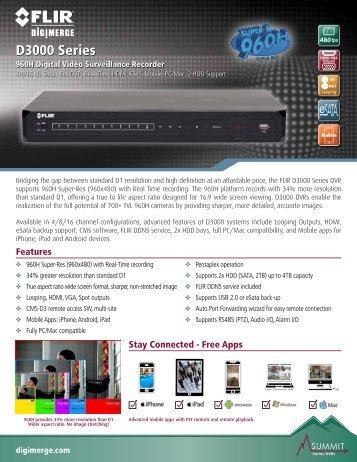 D3000 Series spec sheet - Digimerge
