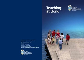 Learning & Teaching @ Bond: A guide for new staff - Bond University