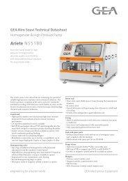 GEA Niro Soavi Ariete NS5180 Tech Sheets ENG Rev05 2012 min.