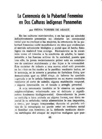la Ceremonia de la Pubertad Femenina en Dos Culturas Indígenas ...