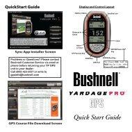 Quick Start Guide - Bushnell Golf