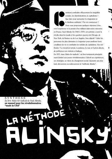 La méthode Alinsky - Les renseignements généreux