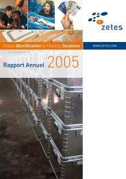Zetes Rapport Annuel 2005
