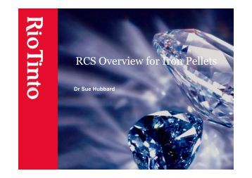RCS Overview for Iron Pellets