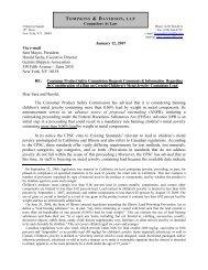 Counselors At Law January 12, 2007 Via e-mail Sara Mayes ...