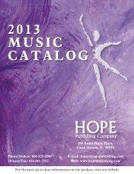 2013 MUSIC CATALOG - Hope Publishing Company