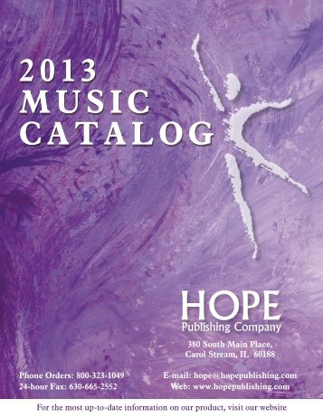 2013 MUSIC CATALOG - Hope Publishing Company