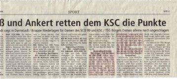 Artikel aus der Offenbach-Post vom 15.10.09 - TSG Kegelabteilung