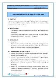 cuidados del paciente traqueostomizado - Comunidad de Madrid