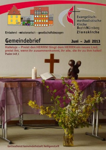 Gemeindebrief Jun-Jul 2013w - Zionsgemeinde