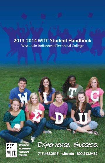 Student Handbook 2013-2014 Planner - Wisconsin Indianhead ...