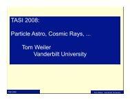 TASI 2008 - University of Colorado Boulder