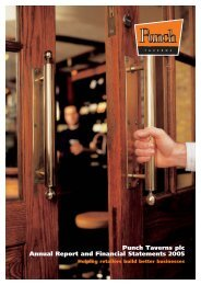 Punch Taverns plc Annual Report and Financial Statements 2005