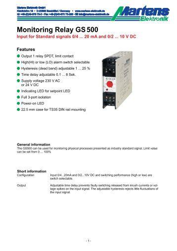 GS500-00- Prospekt - Martens Elektronik GmbH