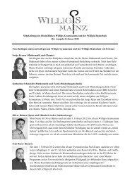 Schulzeitung Februar 2012 - Bischöfliches Willigis Mainz
