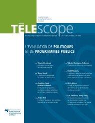 l'évaluation de politiques et de programmes publics - L'Observatoire ...