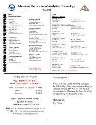 ISAHAS 2011 Shrimp Boil Sponsors