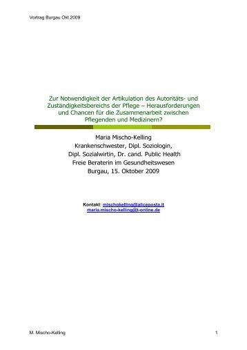 Maria Mischo-Kelling - Therapiezentrum Burgau