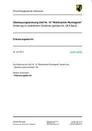Überbauungsordnung UeO Nr. 10
