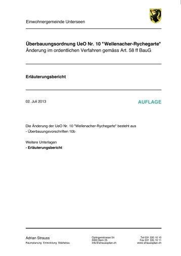 """Überbauungsordnung UeO Nr. 10 """"Wellenacher ... - Unterseen"""