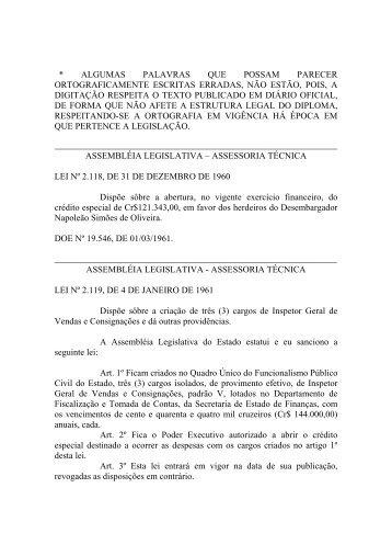 Leiord1961 - Assembléia Legislativa do Estado do Pará - Governo ...