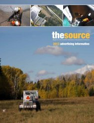 Media Kit for the Source - Canadian Association of Geophysical ...