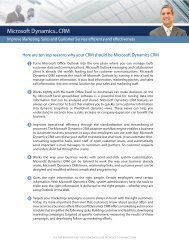 Top 10 Reasons Why Your CRM Should Be Microsoft ... - Socius