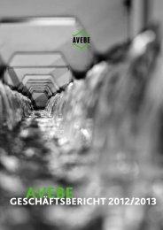 gEschäftsBEricht 2012/2013 - Avebe